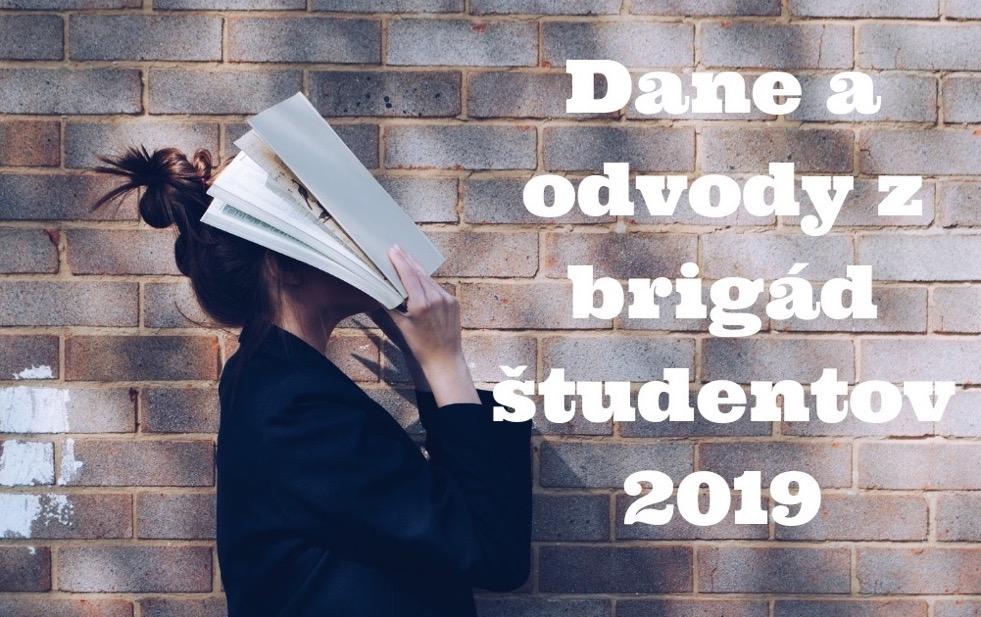 odvody a dane brigády študentov 2019