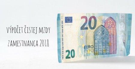 Výpočet čistej mzdy zamestnanca v roku 2018