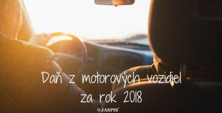 Daňové priznanie k dani z motorových vozidiel za 2018